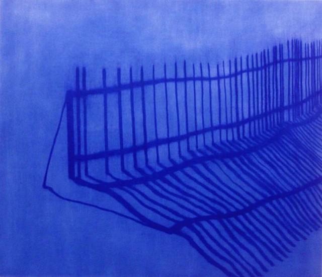Isabel Bigelow, fence 2010, oil on panel