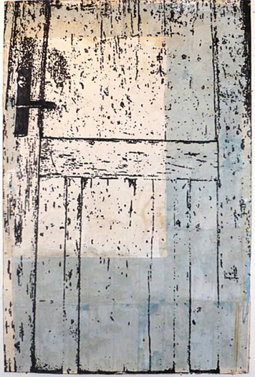 Eugene Brodsky, Door 2009, mixed media on silk