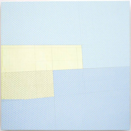 Sara Eichner, interrupted blue planes 2008, oil and pencil on panel