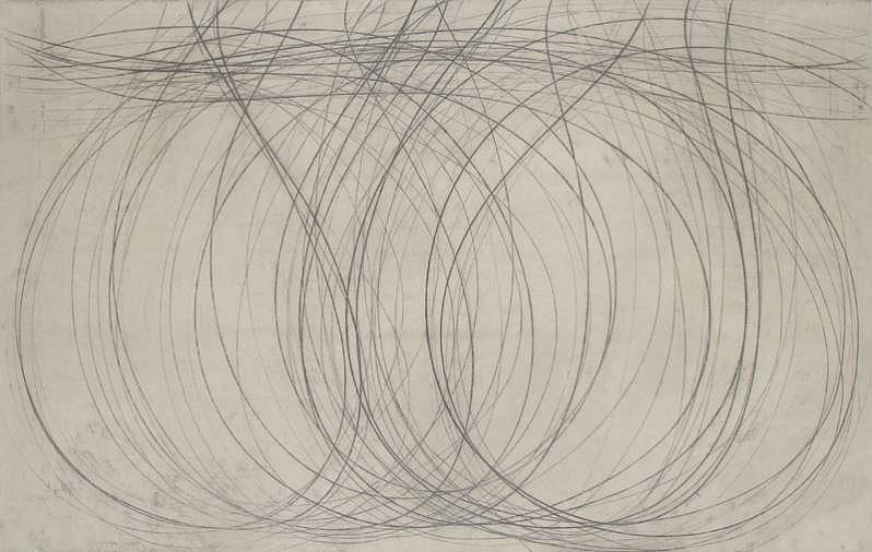 Doug Glovaski (LA), Shift  #51 2007, transfer with oil and wax on paper