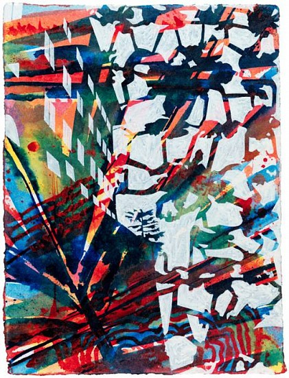 Bo Joseph, A Lexicon of Persistent Absence:Night Watch 2009, acrylic and transfer on paper