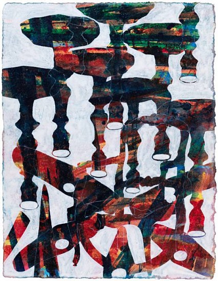 Bo Joseph, A Lexicon of Persistent Absence: Close Encounters 2009, acrylic and transfer on paper