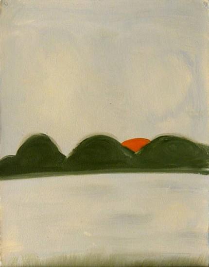 Kathryn Lynch (LA), Landscape #4 2010, oil on paper