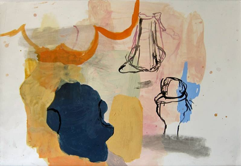Deborah Dancy (LA), A Pocket Full of Rye 2010, gouache on paper