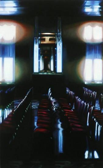 Patti Oleon, Queen Mary Theater 2011, oil on panel