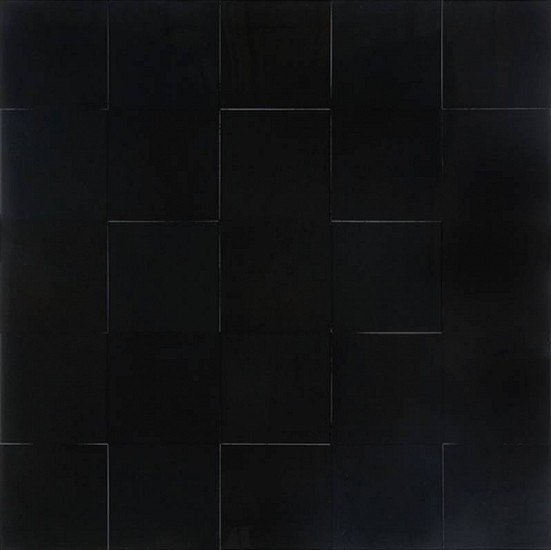 Karen J. Revis, Large Black Grid 2011, mixed media on cast resin