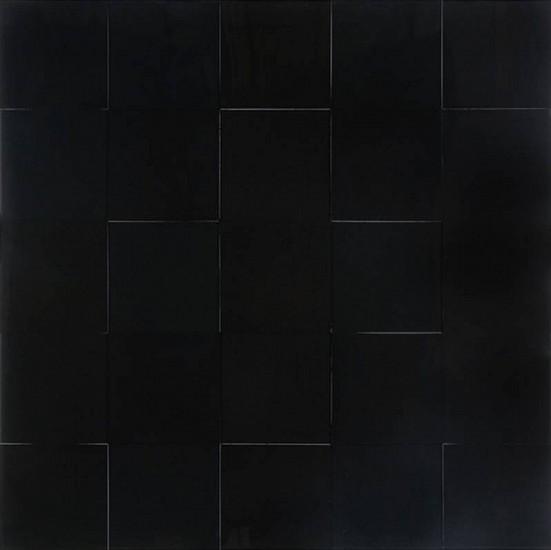 Karen J. Revis, Large Black Grid 2011, mixed media on cast resin