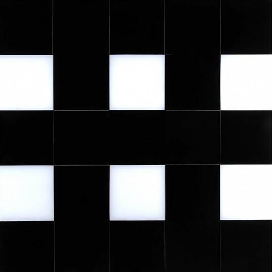 Karen J. Revis, Black & White Double E 2011, mixed media on cast resin