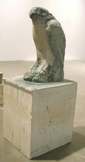 Jane Rosen, Egyptian Falcon 2007, provencal limestone and pigment