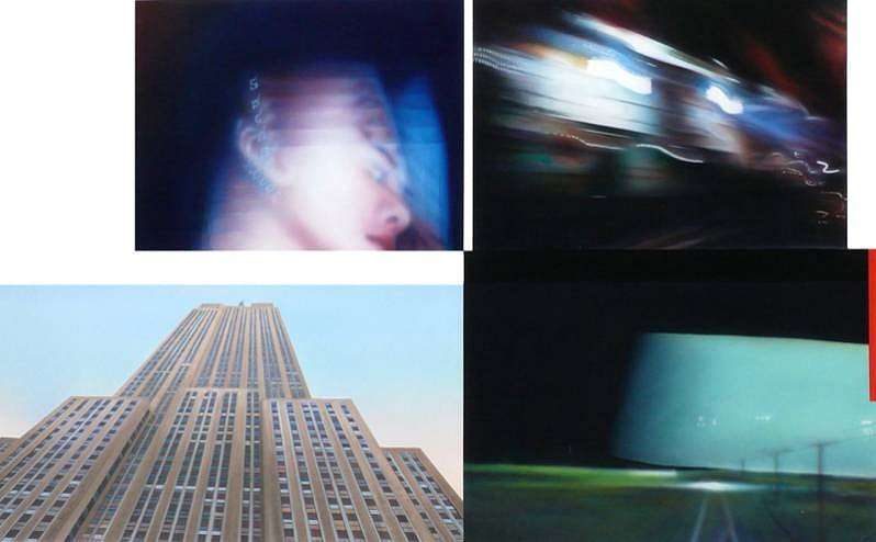 Robert Schmid, Empire State 2011, acrylic on paper