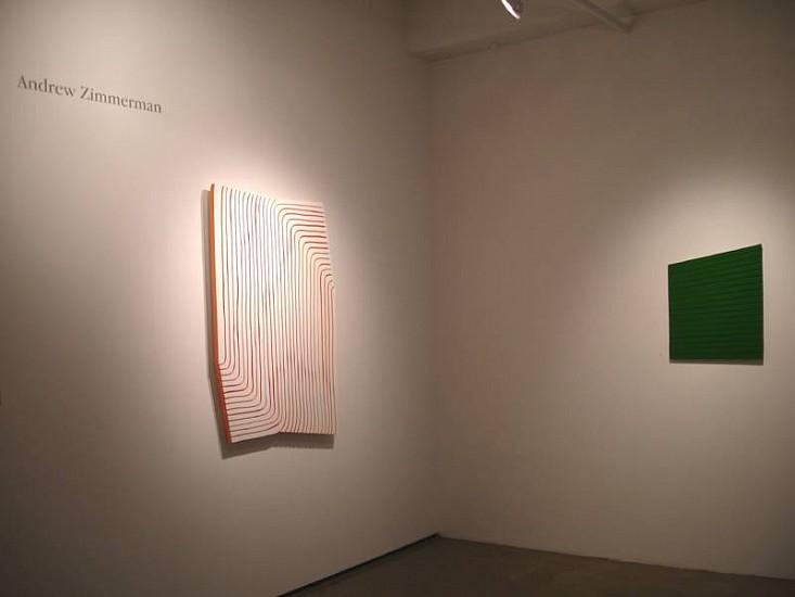 Andrew Zimmerman, Installation 2008, enamel on panel