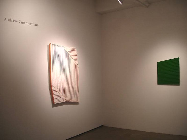 Andrew Zimmerman, Installation 2008, enamel on panel