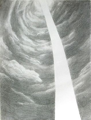 Mia Pearlman, Light Tunnel 2007, graphite on paper
