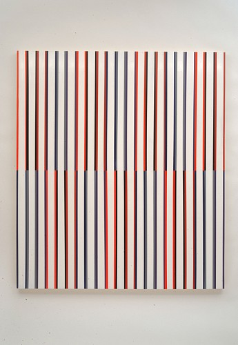Andrew Zimmerman, Broken Bars 2012, acrylic and oil on wood panel