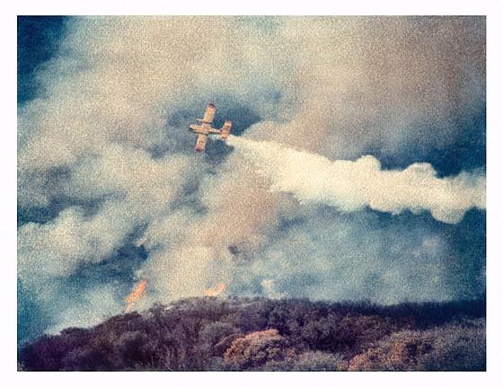John Huggins (LA), Brushfire #2, Malibu, ed. of 17 2007, K-3 pigment print