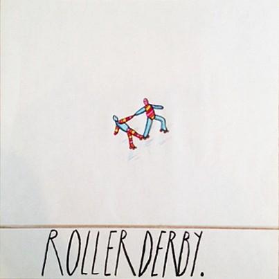 Eric Lebofsky (LA), Roller Derby 2005, ink, colored pencil on paper