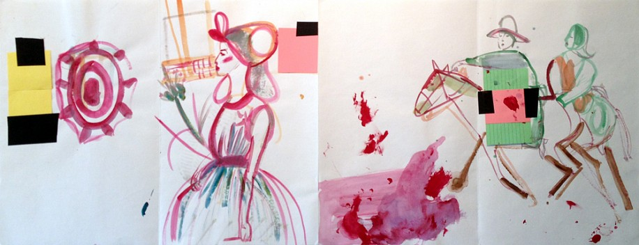 Susan Cianciolo, Untitled (Pink) 2011, mixed media on paper
