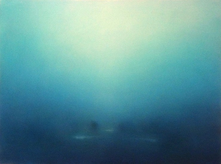 Michael Abrams, Lucent Blue 2013, oil on canvas