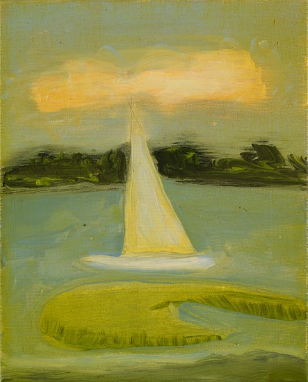 Kathryn Lynch (LA), End of Day Sail 2013, oil on canvas