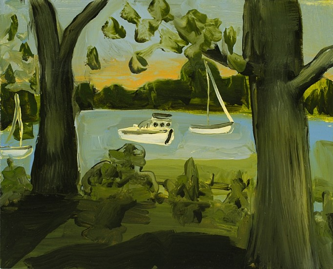 Kathryn Lynch, Coecles Harbor 2013, oil on canvas