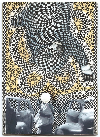 Roz Leibowitz (LA), Paulie's Story 2009, ink and collage on board