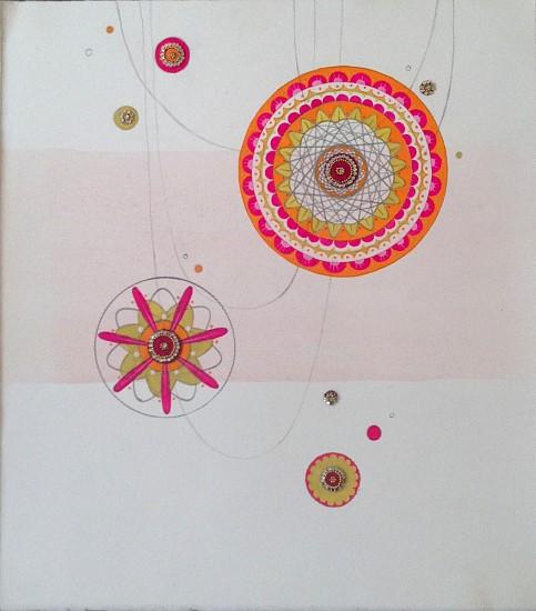 Julie Evans (LA), Bright Kum Kum 2006, gouache, pencil and bindis on paper