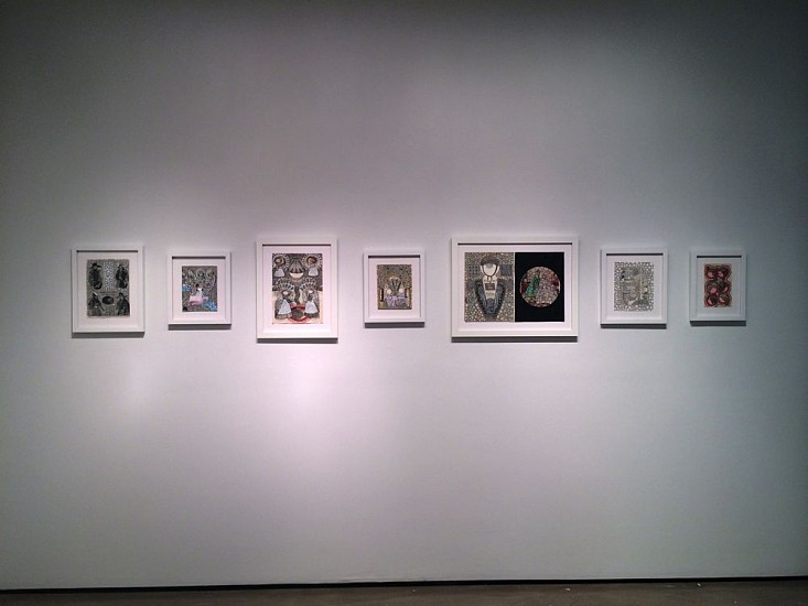 Roz Leibowitz, Doll Portraits Installation 2014