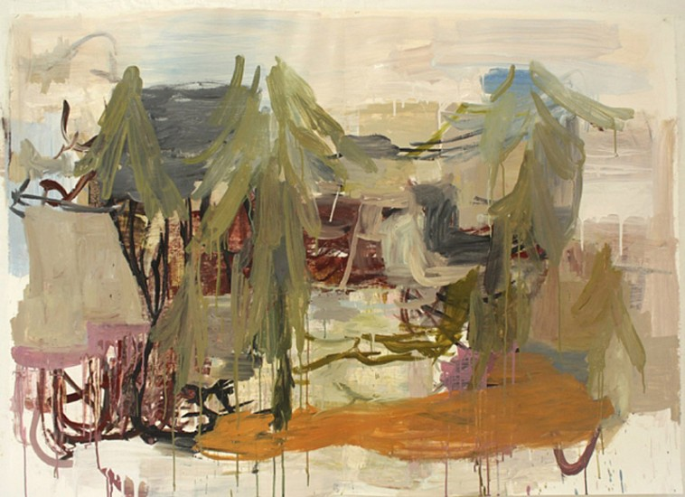 Deborah Dancy (LA), It Might As Well Be Spring 2012, gouache and collage on paper