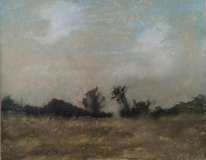 Poogy Bjerklie, In the Distance 2007, oil on rag board on panel