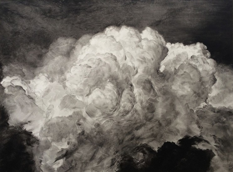 Rick Shaefer, Untitled, Cumulus 2014, acrylic on vellum