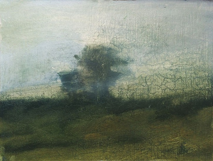 Poogy Bjerklie (LA), Passing Clouds 2007, oil on rag board on panel