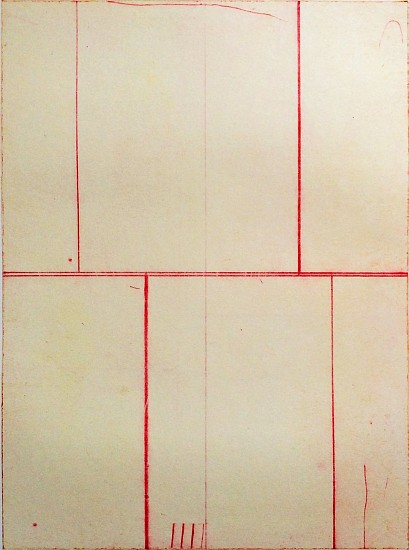 Doug Glovaski, Intersection #3 2014, transfer with oil and wax on paper