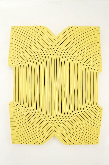 Andrew Zimmerman (LA), 902 Liquid Yellow 2014, wood panel with urethane paint