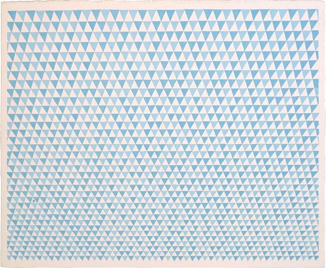 Sara Eichner, blue flags gouache on watercolor paper