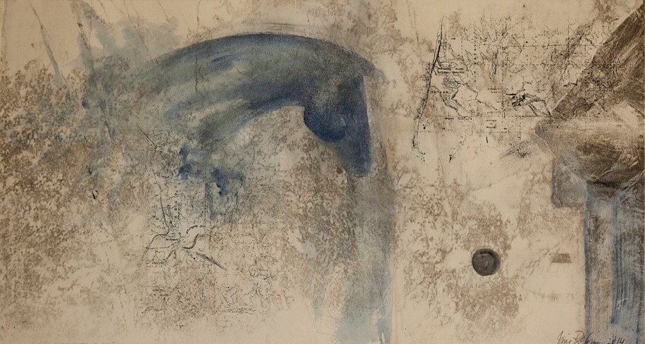 Jane Rosen (LA), Blue Tandem 1 2014, Italian watercolor and lithography