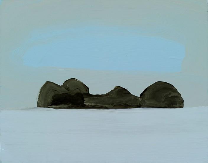 Kathryn Lynch, Rocks Under Cloud 2015, oil on panel