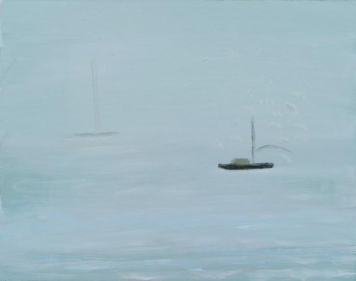 Kathryn Lynch (LA), Boat Out To Sea 2015, oil on board