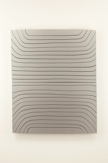 Andrew Zimmerman, Bright Silver 2015, wood panel with urethane paint