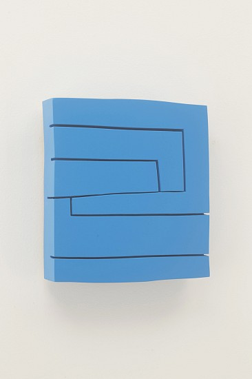 Andrew Zimmerman, Blue Sky 2015, lacquer on panel