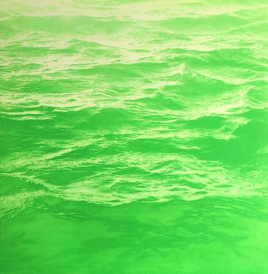 MaryBeth Thielhelm (LA), Lime Green Sea 2015, solar etching