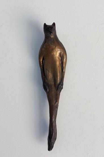 Jane Rosen, Red Fox Buddhi 2015, cast bronze with patina