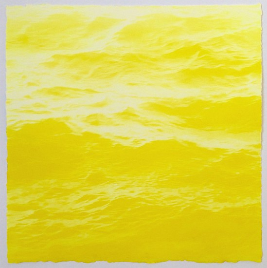 MaryBeth Thielhelm, Lemon Sea 2015, solar etching