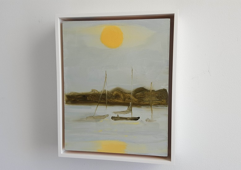 Kathryn Lynch, 3 Boats and Sun 2015, oil on panel