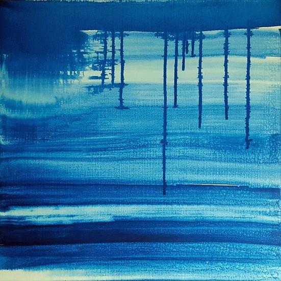 Karen J. Revis (LA), Indigo 6 2015, silkscreen monoprint