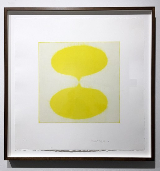 Isabel Bigelow, 2 drops (yellow) 2016, monoprint