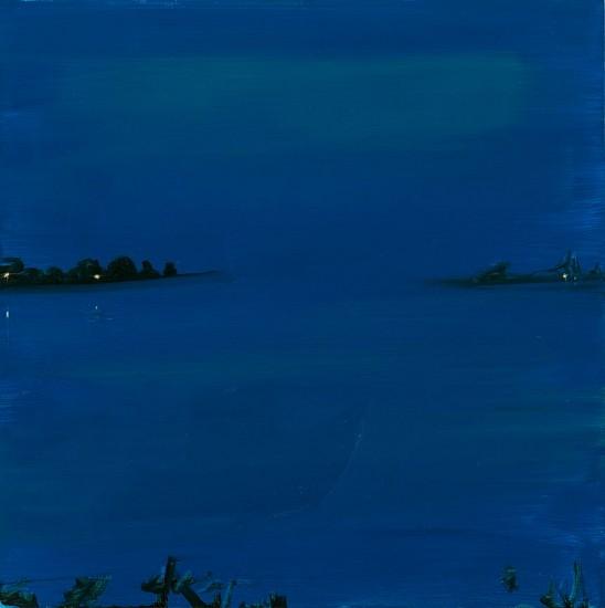 Kathryn Lynch, Blue Bay 2016, oil on panel