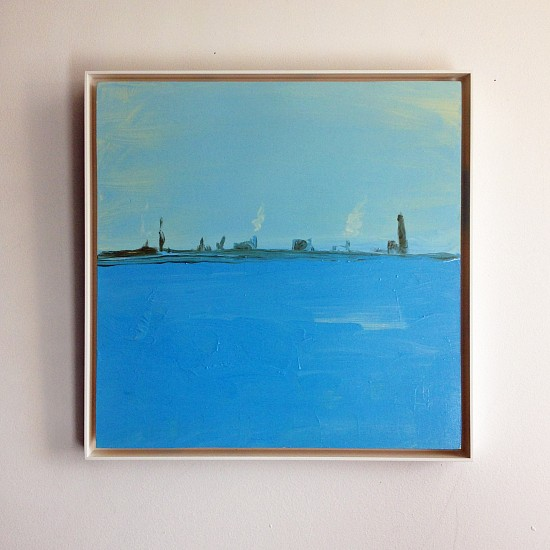 Kathryn Lynch, Blue Hudson 2016, oil on panel