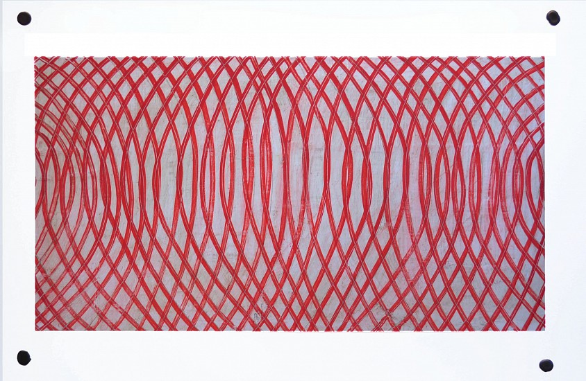 Don Maynard, Mapping Curved Lines 2016, encaustic