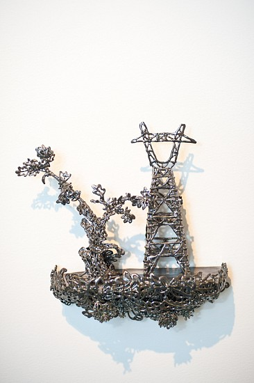 Susan Graham, Toile Floating Landscape 2 2010, glazed porcelain