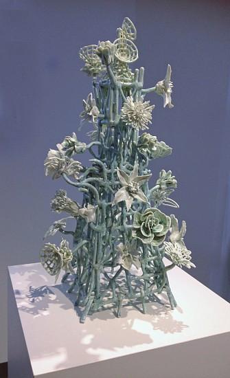 Susan Graham, Flower Tower 3 2015, glazed porcelain